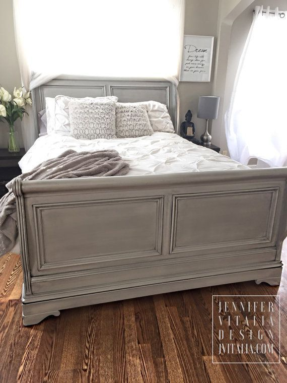 Best 25 cherry sleigh bed ideas on pinterest white for Painted on headboard