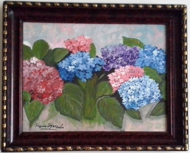 Regina Oyarzún... Gracias por enviarme la foto de tu cuadrito enmarcado... ¡qué bien se ven los cuadros enmarcados! Abrazos, El profe