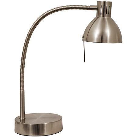 Mainstays Halogen Desk Lamp, Brushed Steel - for Savannah's room?