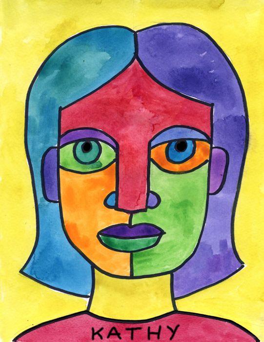 Draw an Abstract Self Portrait | Self portrait art