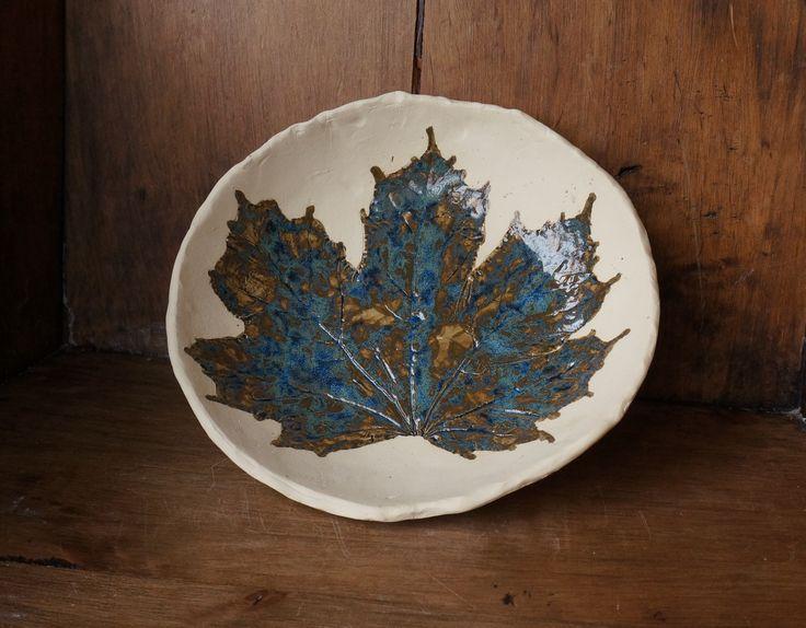 miska ceramiczna wygniatana ręcznie