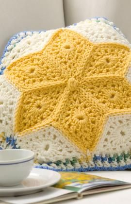 Alaska Snow Flowers Pillow Crochet Pattern. This reminds me of Spring. ¯\_(ツ)_/¯