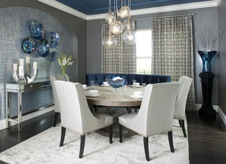 dining room wallpaper with white leather dining chair also round dining table and ceramic bowl besides