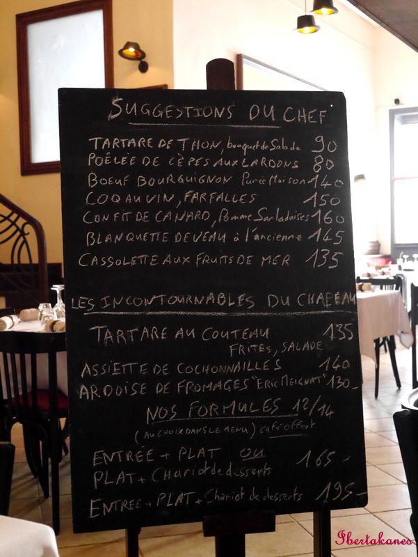 J'ai déjeuné... au Restaurant Chapeau - Ibertakanes