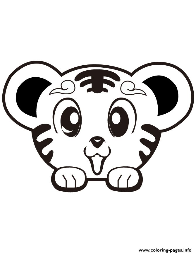 print super cute tiger coloring pages - Super Cute Animal Coloring Pages