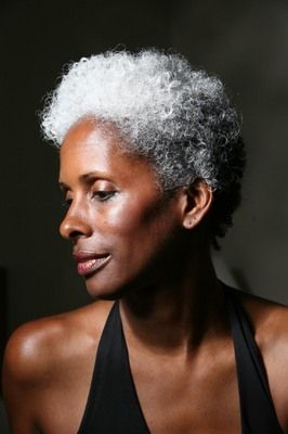 silver fox. #beauty #naturalhair #bigchop
