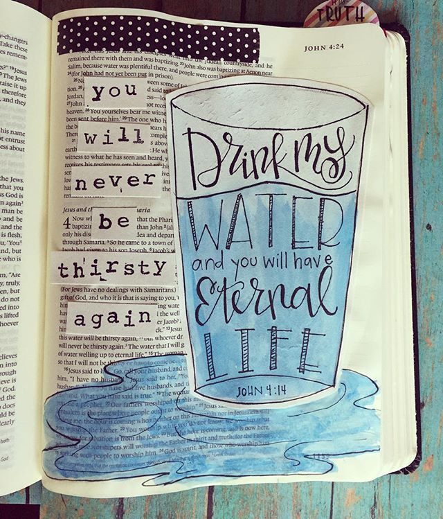 Bible Journaling by Cara Carroll @thefirstgradeparade | John 4:14
