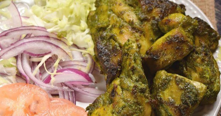 Hariyali Chicken,Hariyali chicken Kabob,Kebab,Kabab,Hariyali Chicken Fry,Hariyali Chicken Tikka,appetizers,Indian,Starters,Oven Grilled Chicken,Spinach and Methi Chicken,Palak Methi Chicken