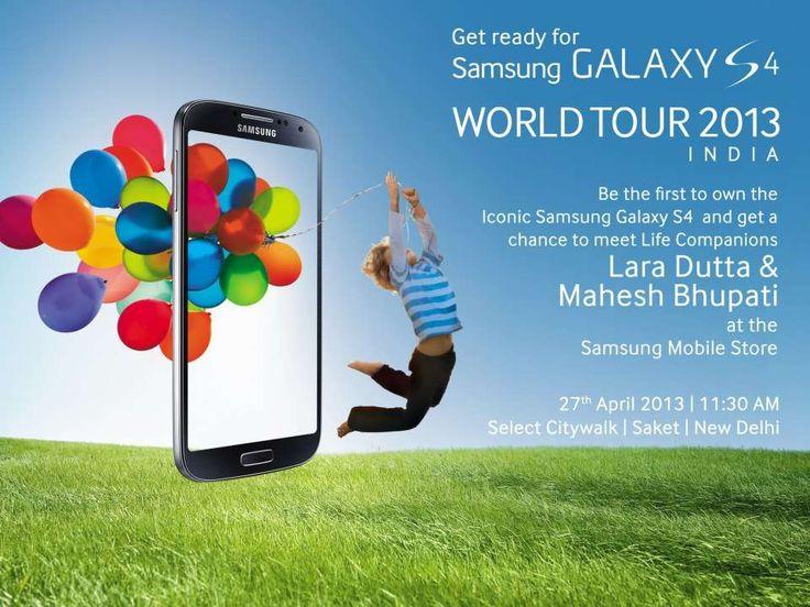 Samsung Galaxy S4 World Tour 2013 - Meet Lara Dutta & Mahesh Bhupathi on 27 April 2013 at Select CITYWALK, Saket, Delhi | Events in Delhi NCR | MallsMarket