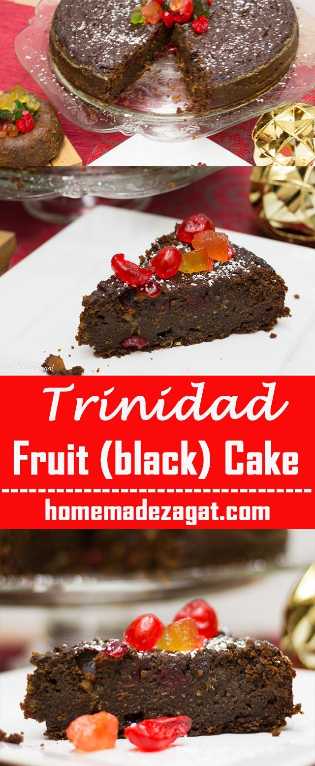 A Decadent Caribbean Black Cake A Heavy Duty Rum Fruit Cake Popularly Made In The Caribbean Around Christmas Time Rum Fruit Cake Fruit Cake Fruitcake Recipes