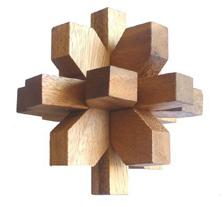 Casse-tête en bois #Flower #cassetete
