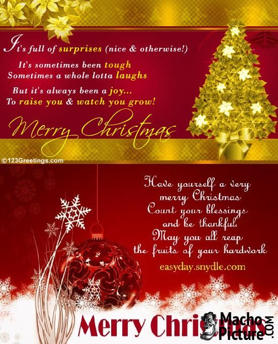 264 best Christmas Greetings images on Pinterest Christmas - christmas greetings sample