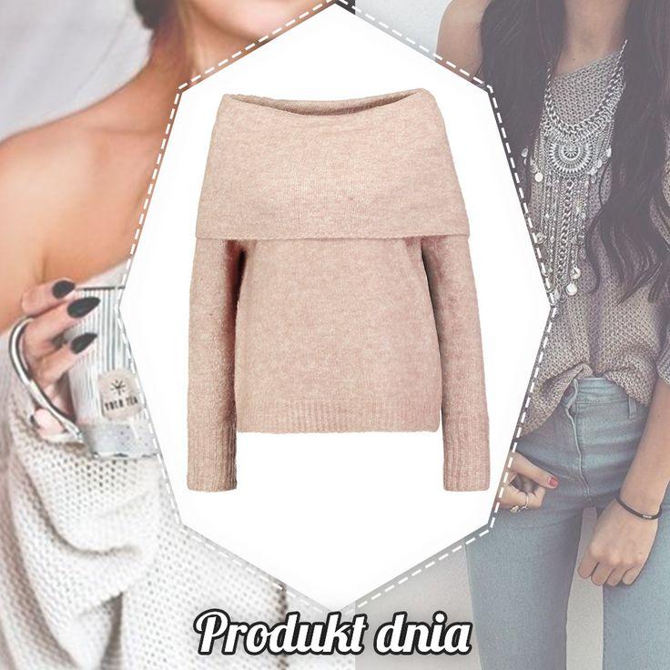 Ciepły i wygodny sweterek subtelnie odsłaniający ramiona😍😍😍 Jak Ci się podoba?💁🏼