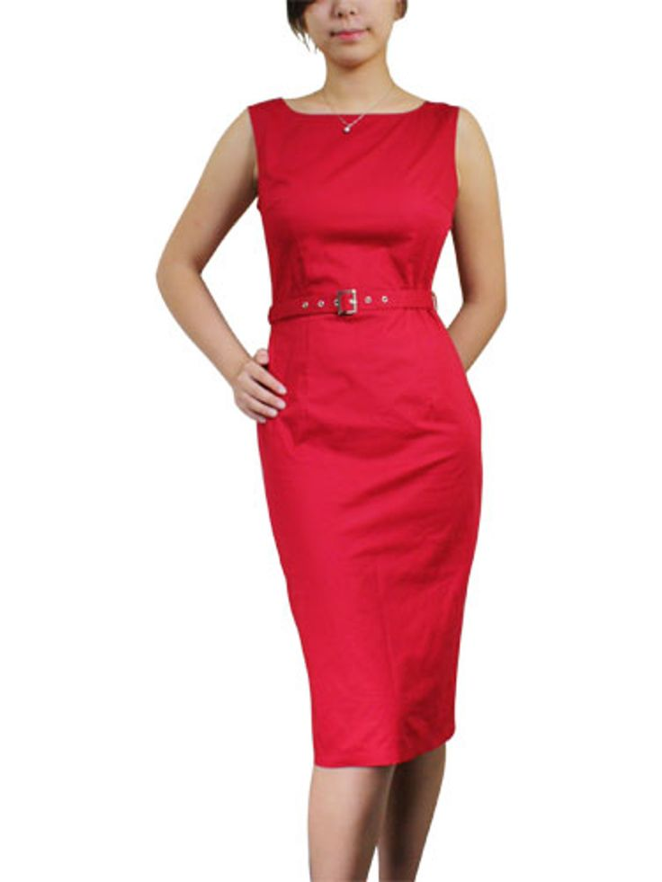 Chic Star - Red Sleeveless Pencil Dress