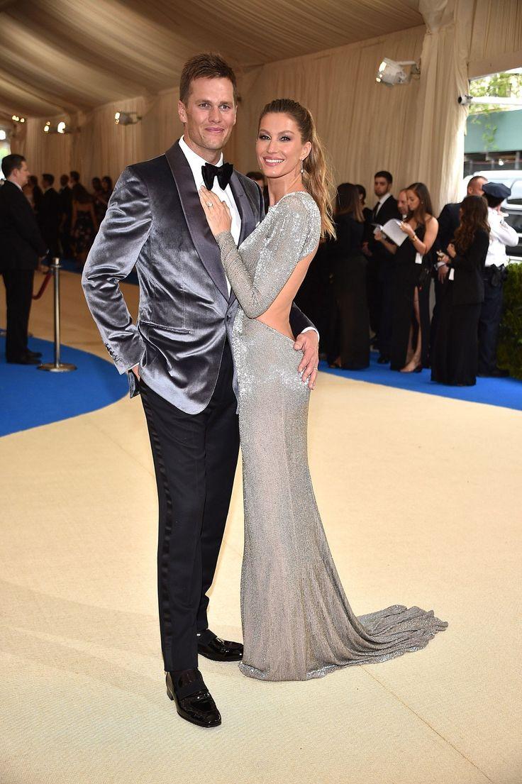 Tom Brady & wife Gisele Bündchen - 2017 Met Gala - HarpersBAZAAR.com