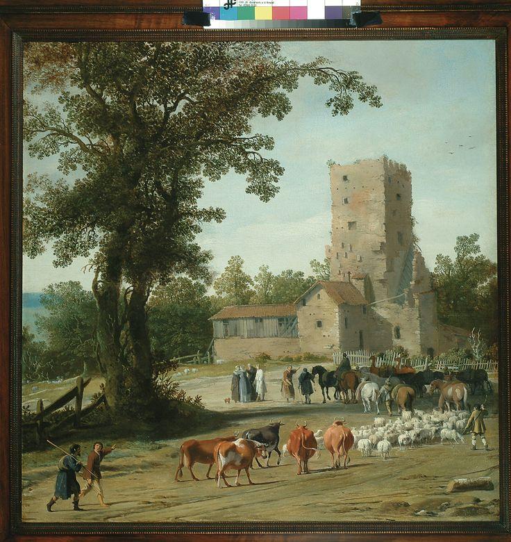 Pieter Jansz. Post, Afscheid van Abraham en Lea en Lot en zijn vrouw (Parting of Abraham and Lea and Lot and his wife), 1630-33. (collection) #franshalsmuseum #art #painting #abraham