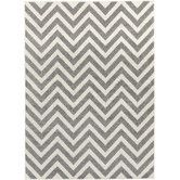 Found it at Wayfair - Horizon Gray/Ivory Chevron Area Rug