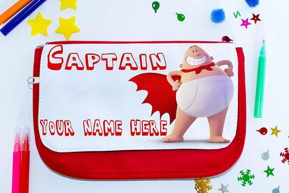 Super Hero personalised pencil case  Captain Underpants pen