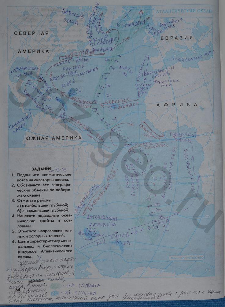 по контурная евразия физическая географии карта карта 7 гдз класс