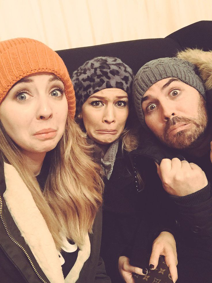 Anna and Jonathan with Zoella at The Scary Farm