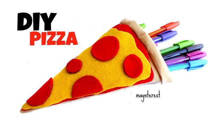 DIY PIZZA PENCIL CASE - Back to school supplies