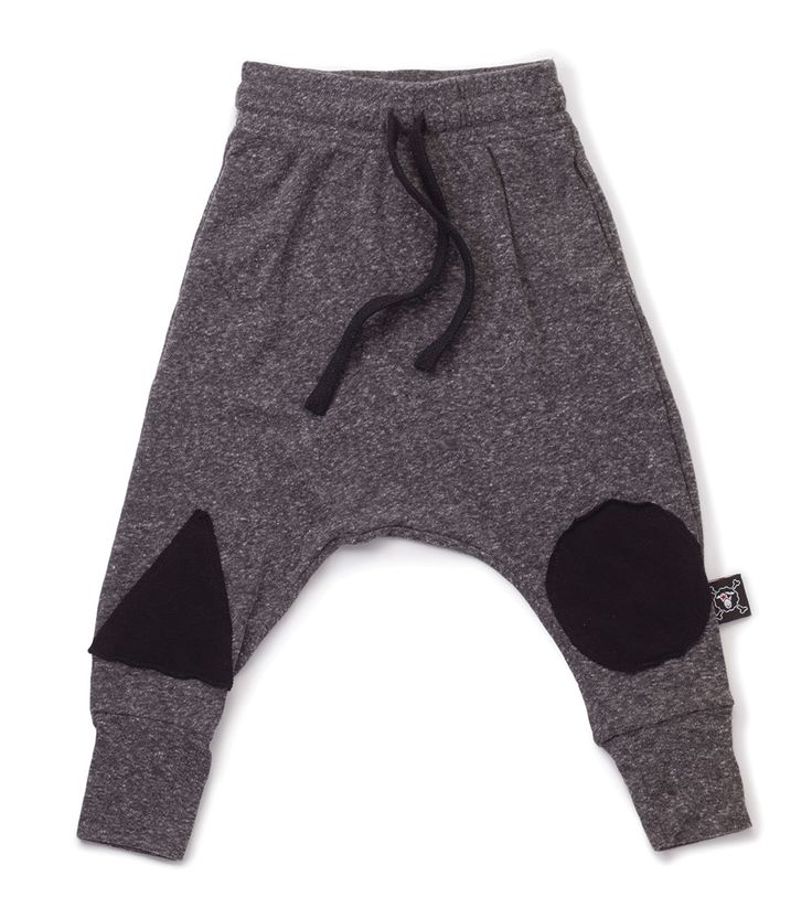 Nununu Geometric Baggy Pants Charcoal