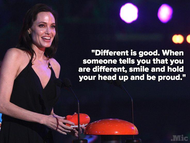 Angelina Jolie's Kids Choice Award Speech on Being Different Deserves a Standing Ovation | Identities.Mic