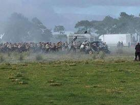"""Beanne on Twitter: """"Supposedly first peeks Season 3 #Outlander filming of the battle of Culloden 22nd August 2016"""