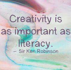 Creativity is as important as literacy