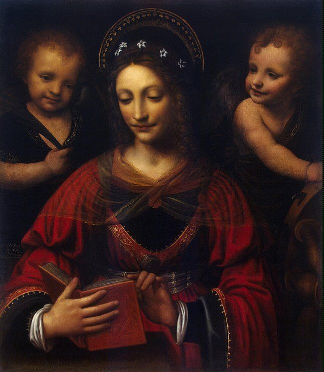 St. Catherine (1527-1531). Bernardino Luini (c. 1480/82-1532). Oil on canvas. Luini was one of the most famous artists of the Milan school of painting, a follower of Leonardo da Vinci. He repeated...