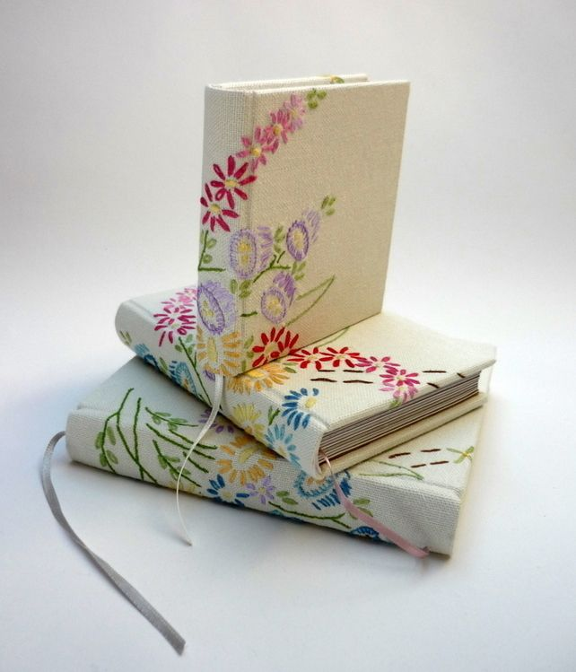 Embroidered Book Cover Tutorial ~ Best fabric book covers ideas on pinterest journal