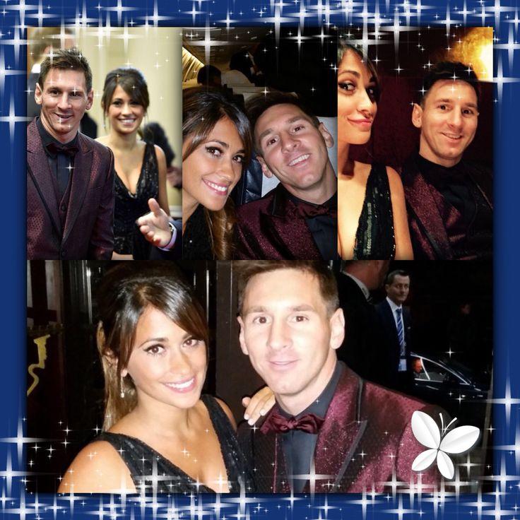 Messi and wife Balón de Oro