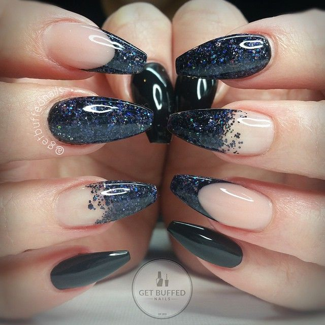 Black glitter Would look better if they were more uniform