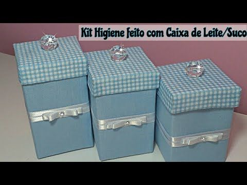 Kit Higiene Feito com Caixa de Leite/Suco #Reciclarte  - YouTube