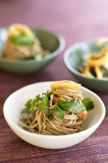 Brigitte Hafner's soba noodle salad. Photo: Marina Oliphant