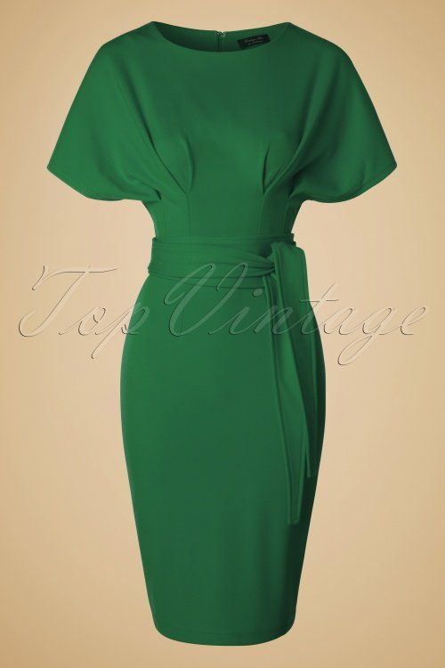 Vintage Chic - 50s Hannah Kimono Dress in Green