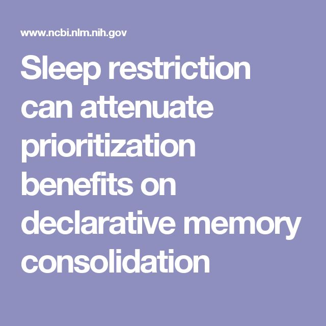 Sleep restriction can attenuate prioritization benefits on declarative memory consolidation