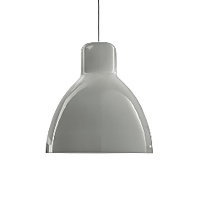 JJ Glass Pendant by Centro Stile, is a classic clean-lined design in Glossy Grey, Straw Yellow, or Glossy White. Finished in Polished Chrome. Available in small and large sizes. For small: One 60 watt, 120 volt G16.5 Candelabra base incandescent bulb is required, but not included. For large: One 60 watt, 120 volt A19 Medium base incandescent bulb is required, but not included. Small: 7.925 inch width x 8.25 inch height x 118 inch maximum length. Large: 13.75 inch width x 14.625 inch height…