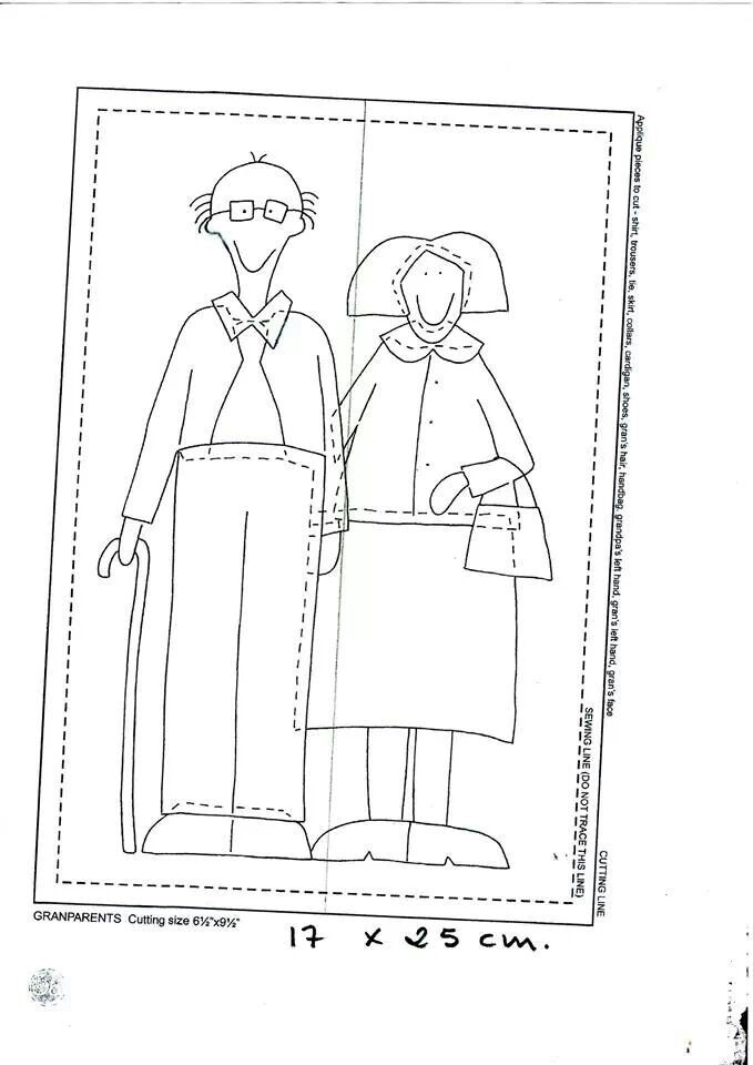 Grandparents--I think these are for appliqué, but could easily be adapted to embroidery.