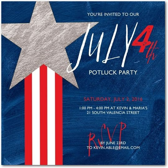 4th Of July Party Ideas And Inspiration Party Invitations