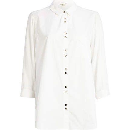 White poplin shirt £25.00