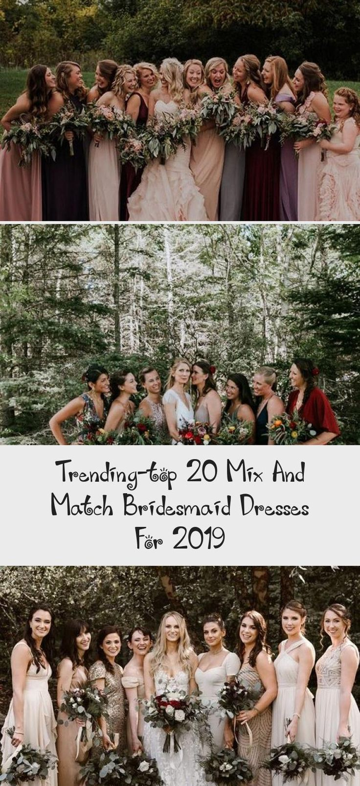 trending mix and match bridesmaid dresses for fall weddings #GrayBridesmaidDresses #BridesmaidDressesDustyRose #PinkBridesmaidDresses #CheapBridesmaidDresses #JuniorBridesmaidDresses