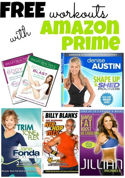 Free Workouts With Amazon Prime! List of workout DVDs that are totally FREE to stream with your Amazon Prime membership! #workout #workouts