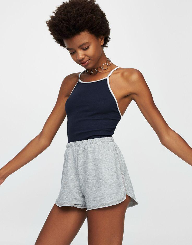 Top liserés contrastants - T-shirts - Vêtements - Femme - PULL&BEAR France