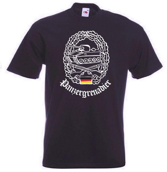 Bundeswehr T-Shirt Panzergrenadier in schwarz / mehr Infos auf: www.Guntia-Militaria-Shop.de