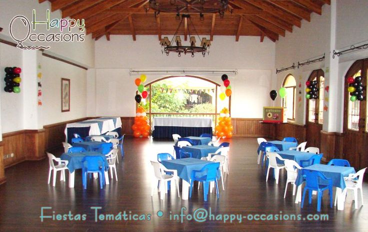 Decoración Fiesta Chuck y sus amigos www.happy-occasions.com