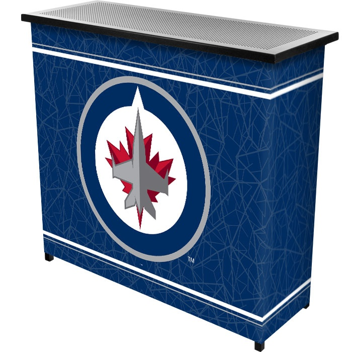 NHL Winnipeg Jets 2 Shelf Portable Bar w/ Case - www.trademarkcommerce.com