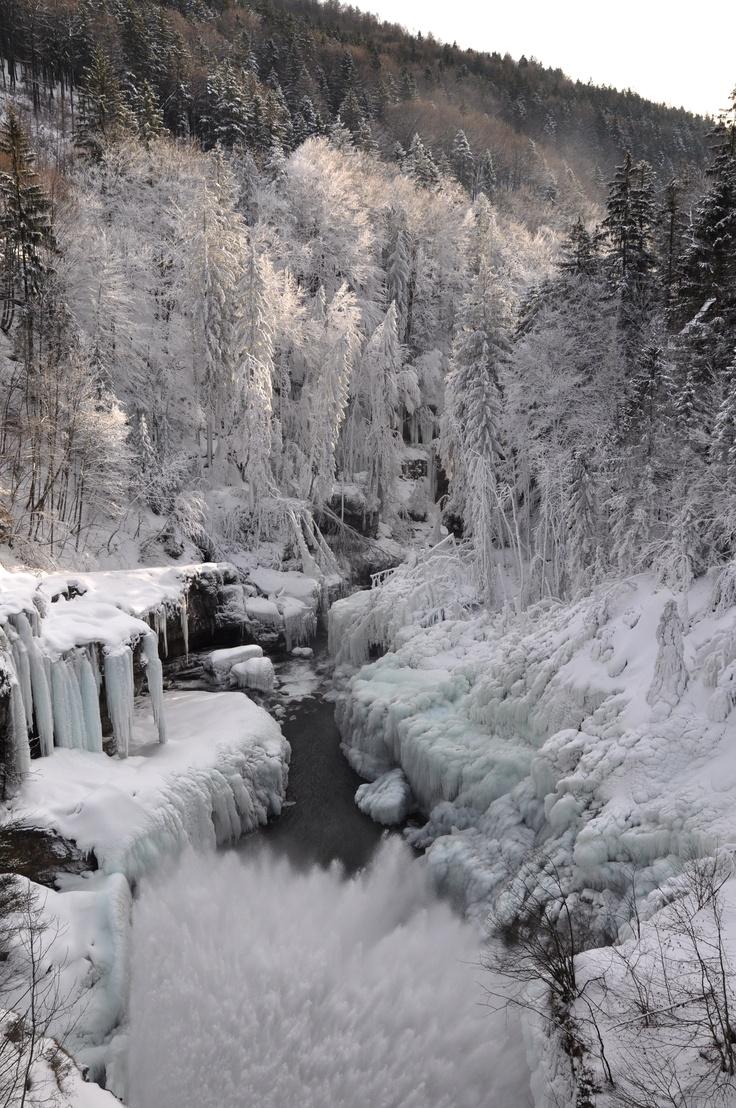 Frozen valley near Salzburg, Austria