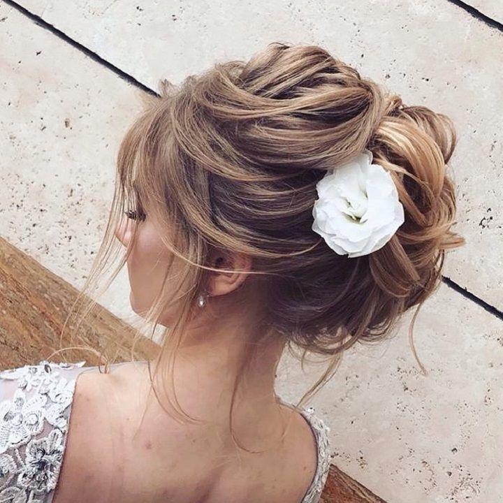 Beautiful Messy updo hairstyle inspiraiton #weddinghair #hairstyle #hairideas #updo #upstyle #messyupdo #hairinspiration