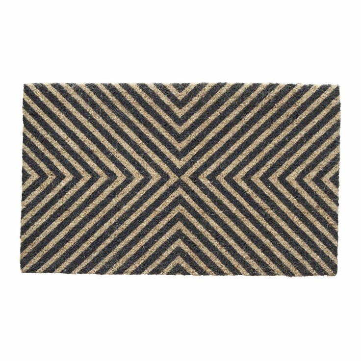 Diagonal Stripe Doormat Slate MILK&SUGAR